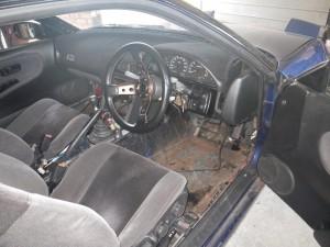 180SX_Interior stripped