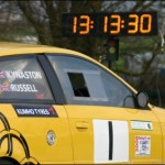 rally car at time control